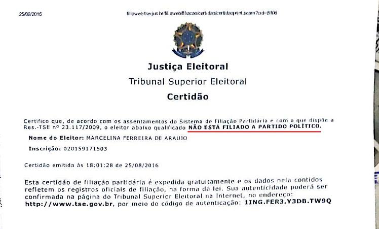 254cfa4dfe5 Ministério Público pede impugnação de candidata a vice-prefeita de ...