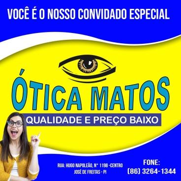 4150702b0a028 A cidade de José de Freitas vai receber uma filial da Ótica Matos. Já  presente em Campo Maior, Altos e Piripiri, a empresa chega a José de  Freitas com o ...